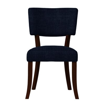 Larochelle Curved Wood Legs Side Chair Upholstery: Dark Blue