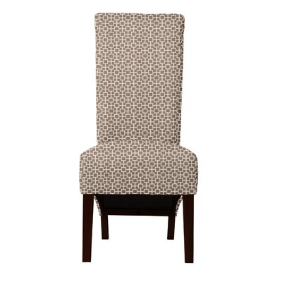 Keyesport Geometric Parsons Chair Upholstery: Brown