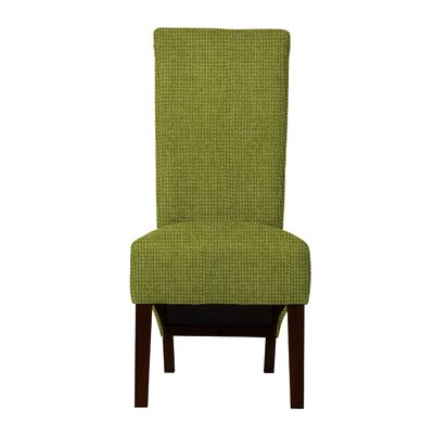Keyesport Rough Cloth Parsons Chair Upholstery: Green