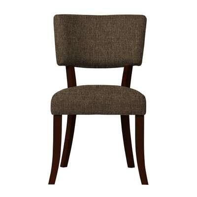 Larochelle Upholstered Side Chair (Set of 2) Upholstery: Brown