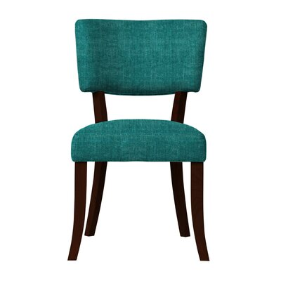 Larochelle Curved Wood Legs Side Chair (Set of 2) Upholstery: Blue