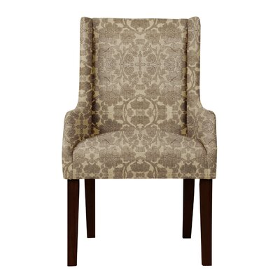 Larrabee Floral Solid Back Arm Chair