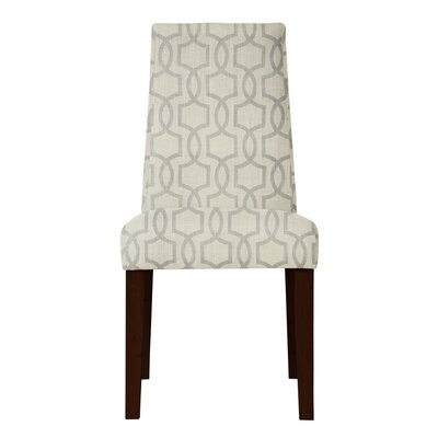 Haddonfield Gray/Beige Fabric Parsons Chair