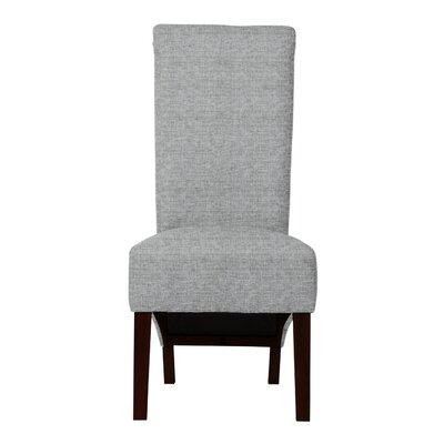 Keyesport Solid Back Parsons Chair Upholstery: Light Gray