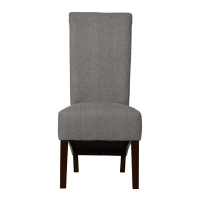 Keyesport Wood Legs Side Chair Upholstery: Gray