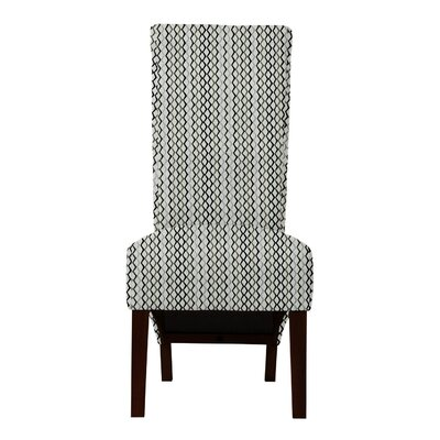 Keyesport Lattice Parsons Chair Upholstery: Gray/Black