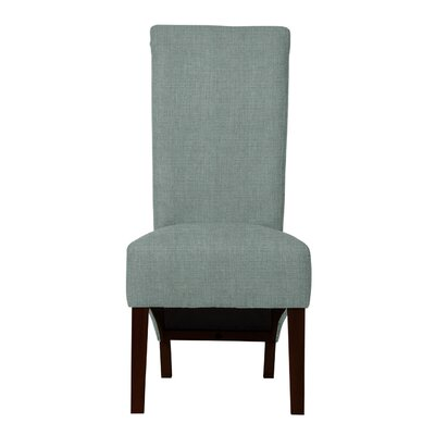 Keyesport Wood Legs Parsons Chair (Set of 2) Upholstery: Light Blue