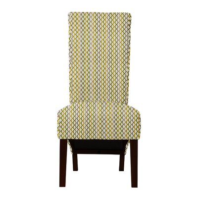 Keyesport Lattice Parsons Chair (Set of 2) Upholstery: Gray/Yellow