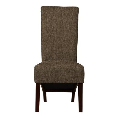 Keyesport Solid Back Parsons Chair (Set of 2) Upholstery: Brown