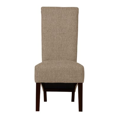 Keyesport Solid Back Parsons Chair (Set of 2) Upholstery: Beige