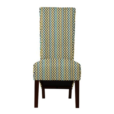 Keyesport Lattice Parsons Chair Upholstery: Yellow/Blue