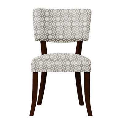 Larochelle Upholstered Solid Back Side Chair Upholstery: Gray