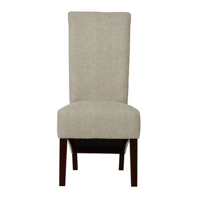 Keyesport Wood Legs Side Chair (Set of 2) Upholstery: Light Gray