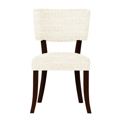 Petra Fabric Side Chair (Set of 2) Upholstery: Cream