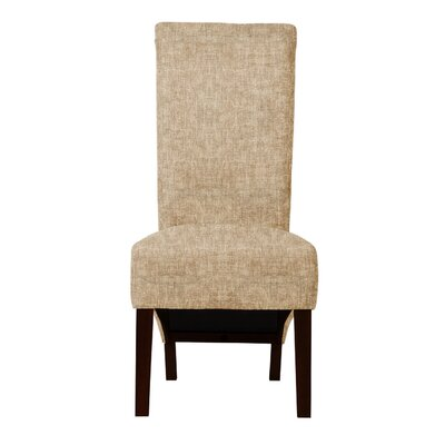 Keyesport Solid Upholstered Parsons Chair (Set of 2) Upholstery: Beige