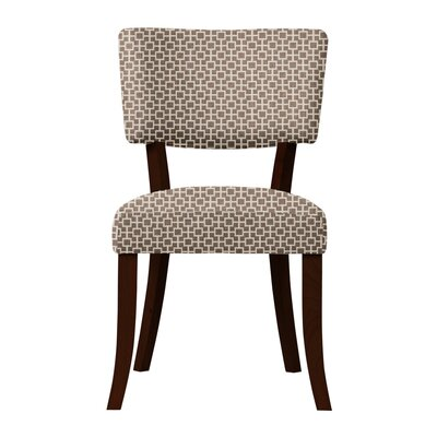 Larochelle Upholstered Solid Back Side Chair Upholstery: Brown