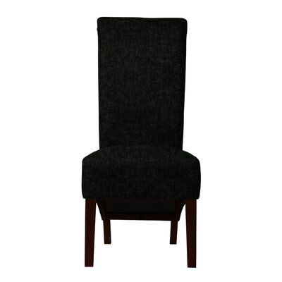 Keyesport Solid Upholstered Side Chair (Set of 2) Upholstery: Black
