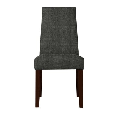 Haddonfield Fabric Parsons Chair (Set of 2) Upholstery: Dark Gray