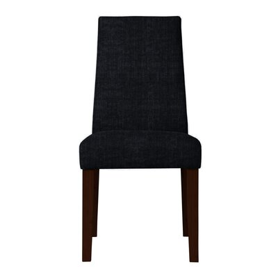 Haddonfield Fabric Parsons Chair Upholstery: Black