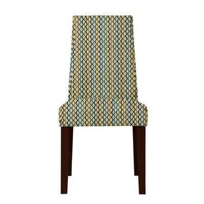 Haddonfield Lattice Parsons Chair Upholstery: Beige/Brown