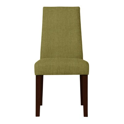 Haddonfield Upholstered Side Chair Upholstery: Green