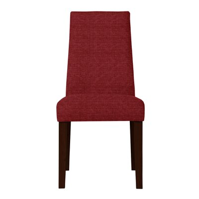 Haddonfield Dried Birch Hardwood Parsons Chair Upholstery: Red