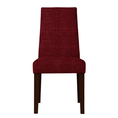 Haddonfield Fabric Parsons Chair Upholstery: Red