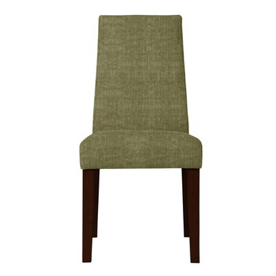 Haddonfield Fabric Parsons Chair Upholstery: Green
