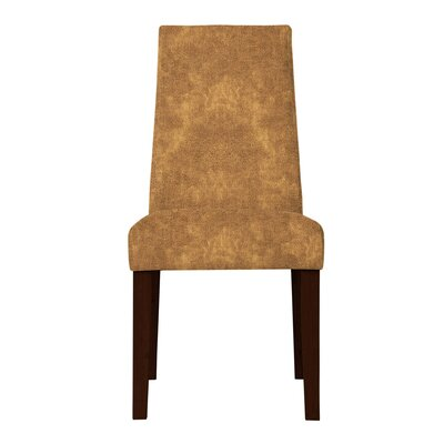 Haddonfield Formal Solid Back Side Chair (Set of 2) Upholstery: Light Brown