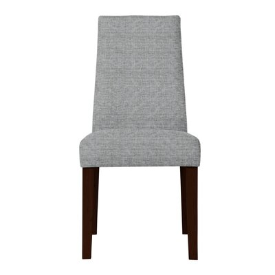 Haddonfield Dried Birch Hardwood Parsons Chair Upholstery: Light Gray