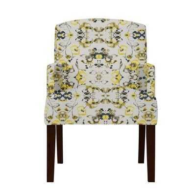 Larose Yellow Flowers Arm Chair