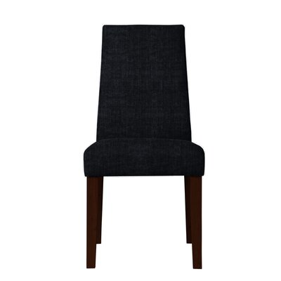 Haddonfield Solid Back Parsons Chair (Set of 2) Upholstery: Black