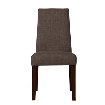 Haddonfield Dried Birch Hardwood Parsons Chair Upholstery: Brown