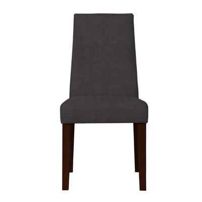 Haddonfield Formal Solid Back Side Chair (Set of 2) Upholstery: Dark Gray