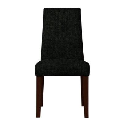 Haddonfield Hardwood Frame Parsons Chair Upholstery: Black
