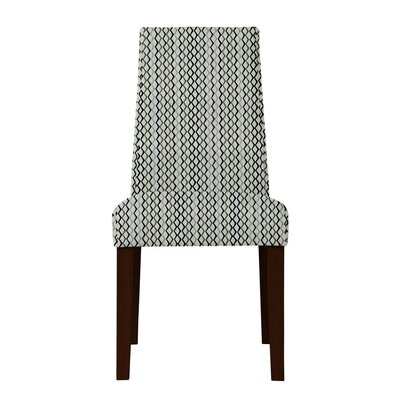 Haddonfield Lattice Side Chair Upholstery: Gray