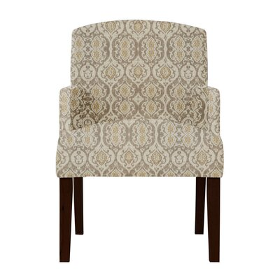 Keisha Beige Fabric Arm Chair
