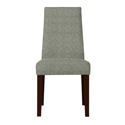 Haddonfield Dried Birch Hardwood Side Chair Upholstery: Gray