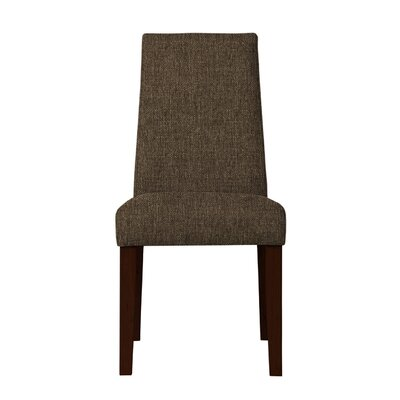 Haddonfield Wood Legs Parsons Chair (Set of 2) Upholstery: Dark Brown