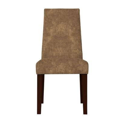 Haddonfield Formal Solid Back Side Chair Upholstery: Dark Brown