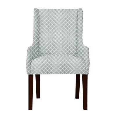 Larrabee Hardwood Frame Arm Chair Upholstery: Green