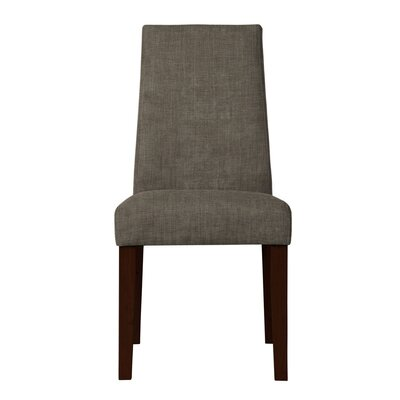 Haddonfield Formal Solid Back Side Chair Upholstery: Light Gray