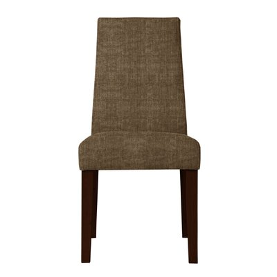 Haddonfield Solid Back Side Chair Upholstery: Brown