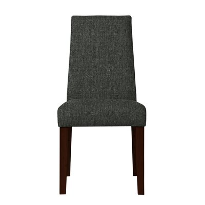 Haddonfield Wood Legs Side Chair Upholstery: Dark Gray