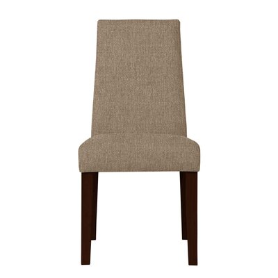 Haddonfield Wood Legs Parsons Chair (Set of 2) Upholstery: Light Brown