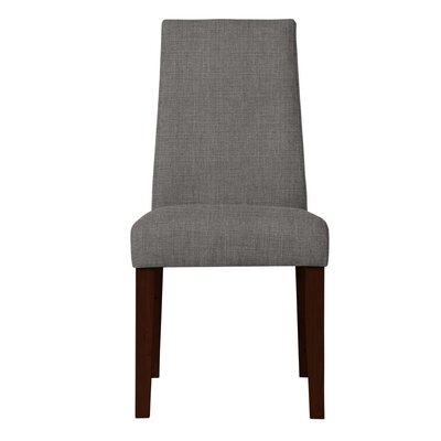 Haddonfield Upholstered Side Chair Upholstery: Dark Gray