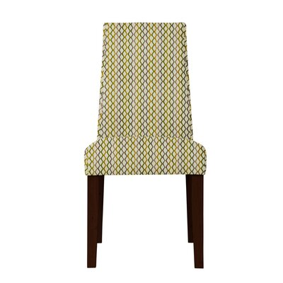 Haddonfield Lattice Parsons Chair Upholstery: Beige/Blue