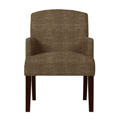 Larose Hardwood Arm Chair Upholstery: Brown