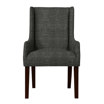Larrabee Upholstered Solid Back Arm Chair Upholstery: Dark Gray