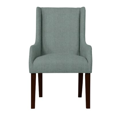 Larrabee Solid Back Formal Arm Chair Upholstery: Light Blue